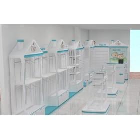 济南服装展柜,孕婴专柜,孕婴陈列柜,童装展示柜设计